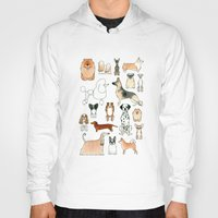 dogs Hoodies featuring Dogs by Rebecca Bennett