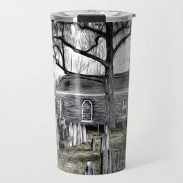 Sleepy Hollow Church Art Travel Mug