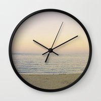 rothko Wall Clocks featuring beach: rothko variations by EnglishRose23