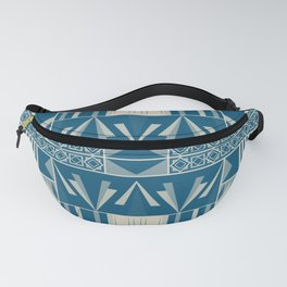 Art Deco Abstract Soft Teal Fanny Pack