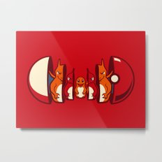 Poketryoshka - Fire Type Metal Print