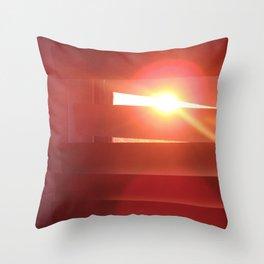 Stalking the sunset Throw Pillow