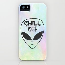 Chill Out Alien iPhone Case