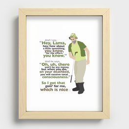 Carl Spackler and the Lama Recessed Framed Print