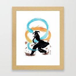 The Legend of Korra Stencil Framed Art Print