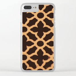 gold pattern Clear iPhone Case
