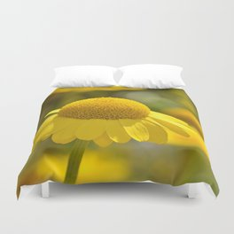 Yellow flower macro 253 Duvet Cover