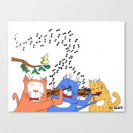 Cats with Violins Canvas Print
