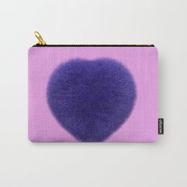 Furry Heart Carry-All Pouch