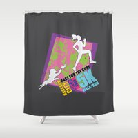 the cure Shower Curtains featuring Race for the Cure: T-Virus Awareness by The Cracked Dispensary