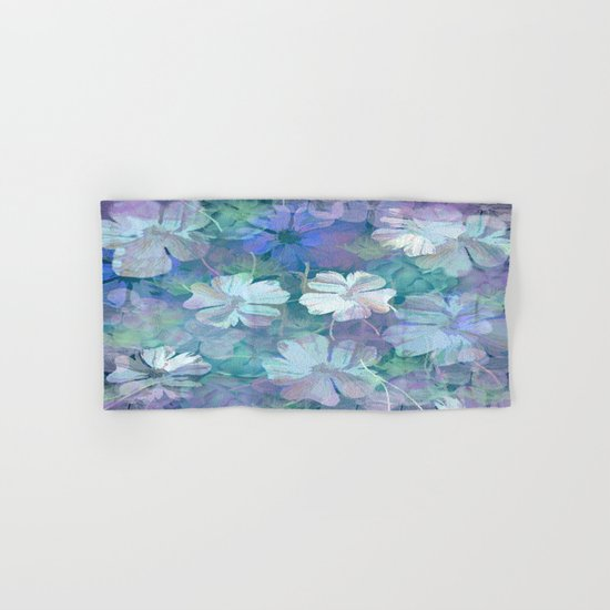 Painterly Midnight Floral Abstract Hand & Bath Towel