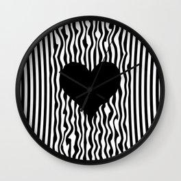 Heart optical illusion #society6 #decor #buyart #artprint Wall Clock