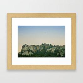 Mount Rushmore Sunset Framed Art Print