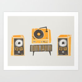 Vinyl Deck And Speakers Kunstdrucke
