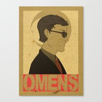 good omens Canvas Prints featuring OMENS by Cool Like Jello