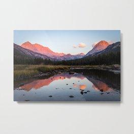 Sierra Alpenglow Metal Print