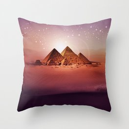 Station Pyramid Throw Pillow
