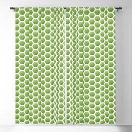 Honeycomb in Green Blackout Curtain