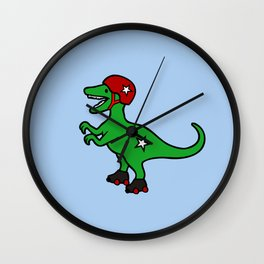 Roller Derby Velociraptor Wall Clock