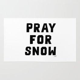 Pray For Snow Rug