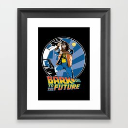 Bark to the Future Framed Art Print