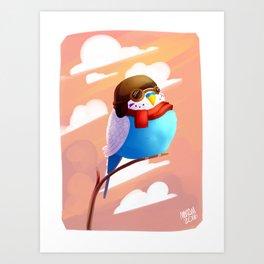 Aviator budgie Art Print