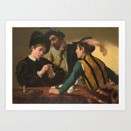 "Michelangelo Merisi da Caravaggio ""Cardsharps"" Art Print"