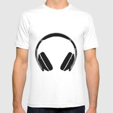 Music To My Ears Mens Fitted Tee White SMALL