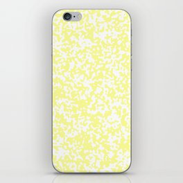 Small Spots - White and Pastel Yellow iPhone Skin