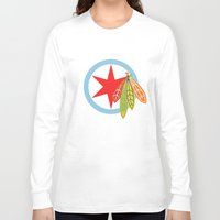 blackhawks Long Sleeve T-shirts featuring City of the Four Feathers by fohkat