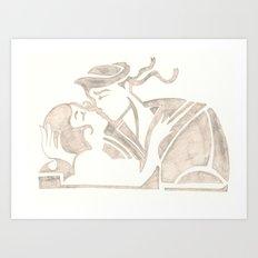KissKiss Art Print