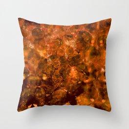 Amber Crystal Lights Throw Pillow