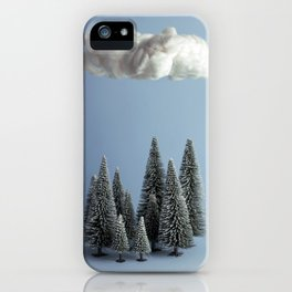A cloud over the forest iPhone Case