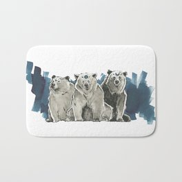 The Bear Clan Bath Mat