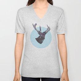 Deer in headlights Unisex V-Neck