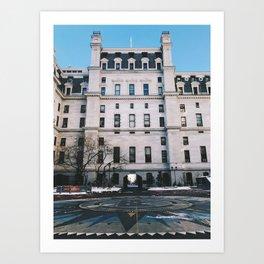 city hall, philly Art Print