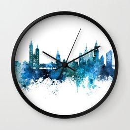 Krakow Poland Skyline Wall Clock
