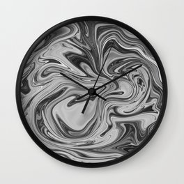 Marmalade Marble - Black and White Wall Clock