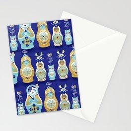 Russian Nesting Dolls – Navy Stationery Cards