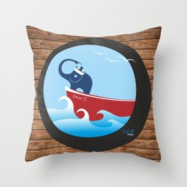 Happy Sailor Throw Pillow