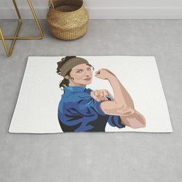 Claire, Rosie the riveter,  Rug