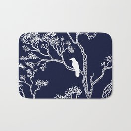 Crow in a tree Bath Mat