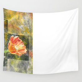 Graphic Tulips Wall Tapestry