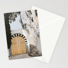 Yellow Door Photo | Tunisia Travel Photography | Authentic Handcrafted Door Stationery Cards
