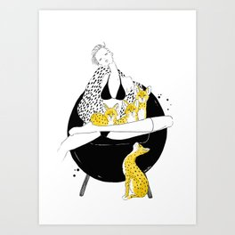 Caturday Art Print