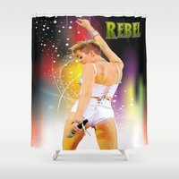 rebel Shower Curtains featuring Rebel by Don Kuing