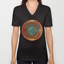 Tribal Maps - Magical Mazes #02 Unisex V-Neck