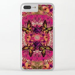 Victoria Mandala Collage Clear iPhone Case