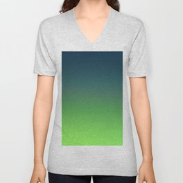 STONE GARDEN - Minimal Plain Soft Mood Color Blend Prints Unisex V-Neck