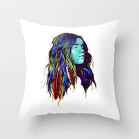 dreamer Throw Pillows featuring Dreamer by Peter Fulop